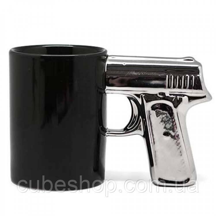 Чашка «Пистолет с серебряной ручкой» (300 мл)