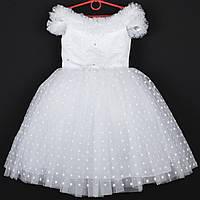 """Платье нарядное детское """"Снегурочка"""" со снежинками 5-7  лет. Белое. Купить оптом и в розницу, фото 1"""