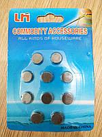Магніт для рукоділля та сувенірів, діаметр 12 мм. Упаковка 10 шт.