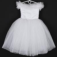 """Платье нарядное детское """"Снегурочка"""" с капельками 5-7  лет. Белое. Купить оптом и в розницу, фото 1"""