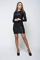 Блестящее женское платье 44
