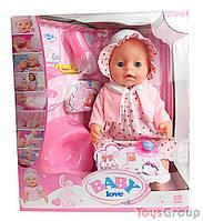 Пупс аналог Baby born функциональный BL 023 F (12) с аксессуарами, в коробке