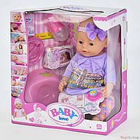 Пупс аналог Baby born функциональный BL 023 G  (12) с аксессуарами, в коробке