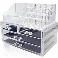Акриловый органайзер для косметики Cosmetic storage Box настольный, фото 1