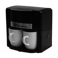 Капельная кофеварка электрическая Domotec MS-0708, 500W Черная, с доставкой по Киеву и Украине