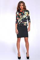 Стильное молодежное платье с баской оптом и в розницу