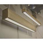 Інтер'єрний світлодіодний світильник в дерев'яному корпусі INF-LWD-WOOD-40W-2000 40W IP20 2000 мм, фото 7