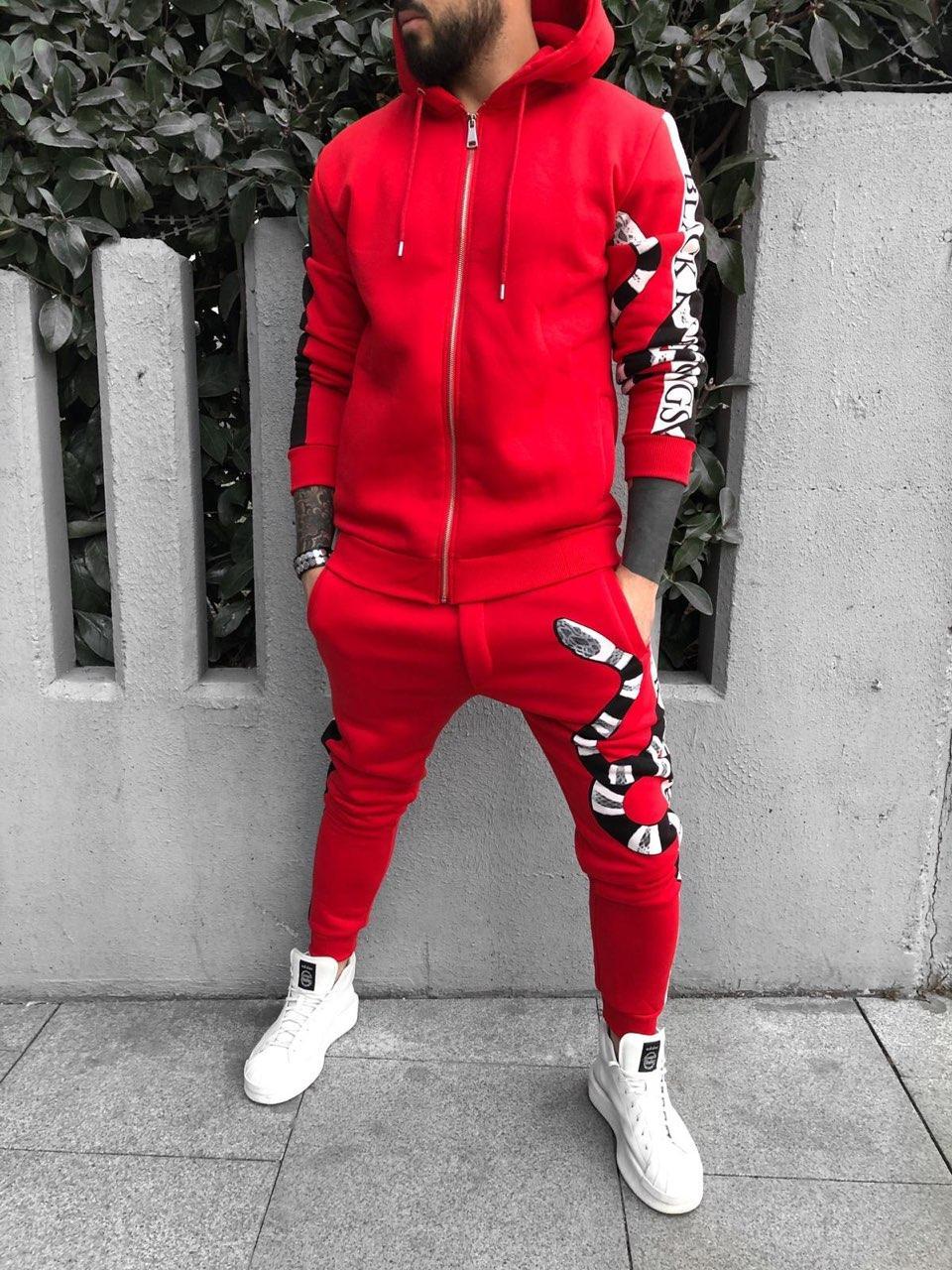 ca3711fdf0b Мужской спортивный костюм красный