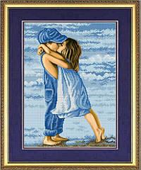 К-3046 Первая любовь. Схема на ткани для вышивки бисером