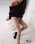 Женские замшевые лосины с накладными карманами (4 цвета), фото 5