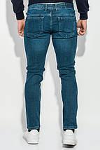 Джинсы мужские прямые модные 421F005-4 (Синий), фото 3