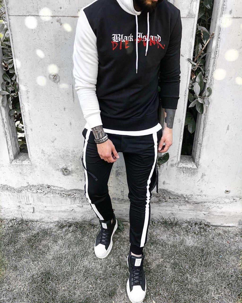08cb1b41 Мужской спортивный костюм черно-белый, цена 1 369 грн., купить в Киеве —  Prom.ua (ID#818335545)