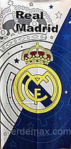"""Банное (пляжное) полотенце  ФК """"Реал Мадрид"""" с логотипом  любимого футбольного клуба"""