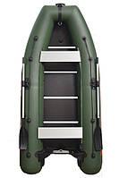 Надувная 4-х местная моторная килевая лодка ПВХ Kolibri КМ-330 DL