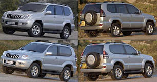 Зеркала для Toyota Land Cruiser Prado 120 2003-09