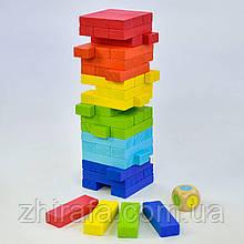 Развлекательная игра Цветная Дженга Падающая Башня Vega Баланс Вежа