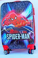Чемодан детский на 4 колесах+замок L 20 Человек Паук 55 см  Spider Man 420-18-SM