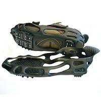 Ледоступы для обуви BlackSpur на 24 шипа, накладка на подошву, цвет - чёрный, размер - M