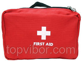 Домашняя аптечка-органайзер для хранения лекарств и таблеток First Aid Pouch Large Красный
