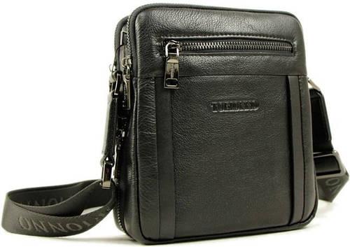 Оригинальная мужская наплечная сумка из кожи Тоfionno 05109-5 черная