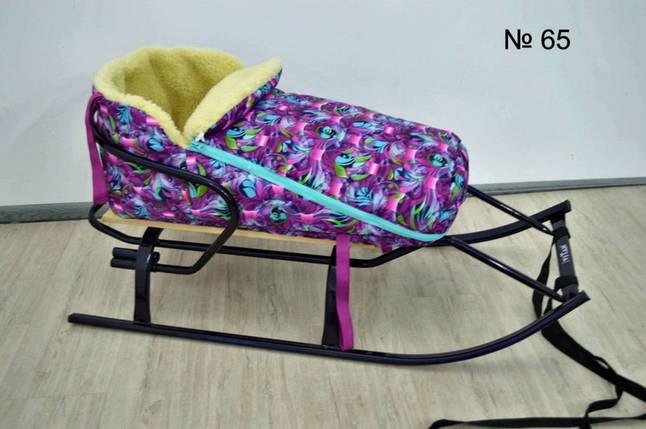 Теплый зимний конверт на овчине для санок и колясок, фото 2