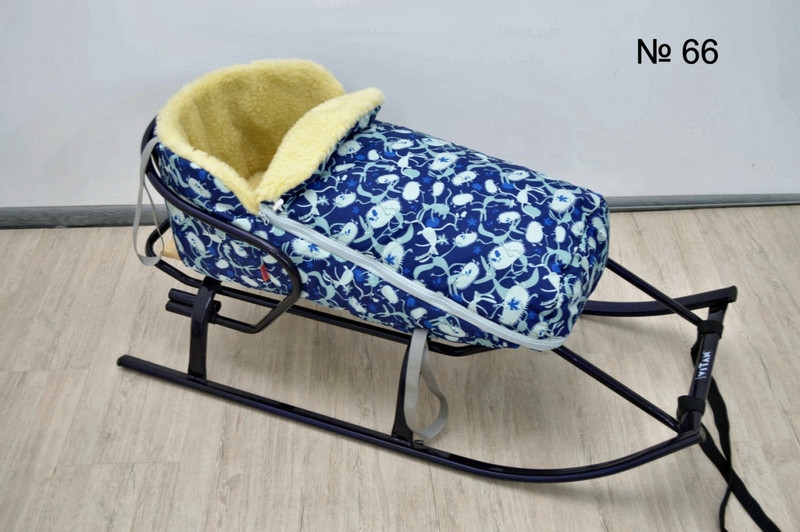 Универсальный чехол на овчине для санок и колясок