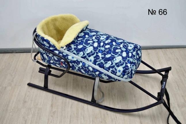 Универсальный чехол на овчине для санок и колясок, фото 2