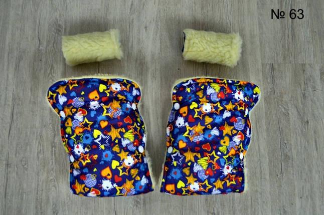 Зимние рукавицы на овчине для коляски и санок, фото 2