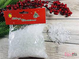 Искусственный снег для новогодних праздников в упаковке 50 г