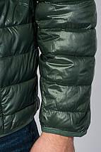 Куртка мужская демисезон 191V005 (Темно-зеленый), фото 3