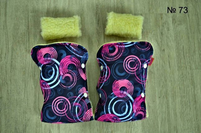 Рукавицы на овчине для санок и колясок, фото 2