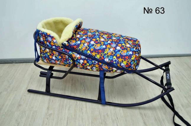 Меховой конверт на завязках для санок и колясок , фото 2