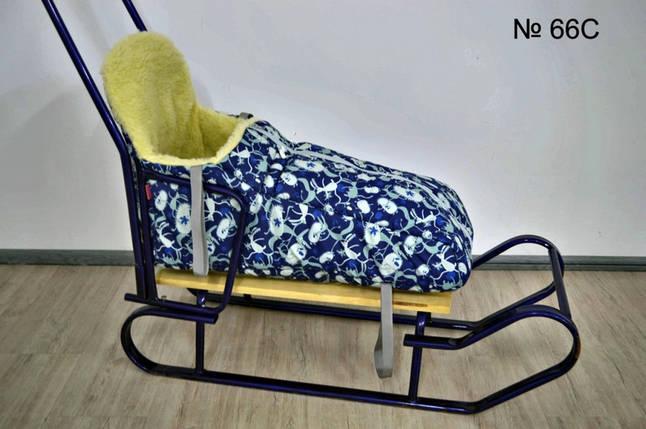 Теплый чехол на меху с высокой спинкой для санок и колясок, фото 2