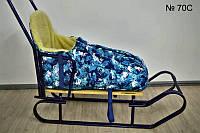 Зимний конверт на овчине с высокой спинкой для санок и колясок