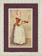 К-3017 Шоколадница. Схема на ткани для вышивки бисером
