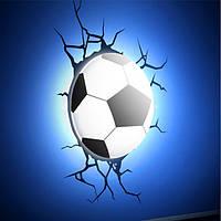 3D cветильник ночник Football Light футбольный мяч , фото 1