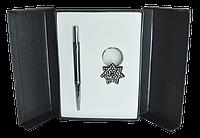 Набор подарочный Star ручка шариковая и брелок черный