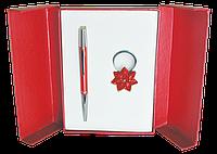 Набор подарочный Star ручка шариковая и брелок красный
