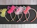 Обручи для волос детские с фатином Зайчики 12 шт/уп, фото 2