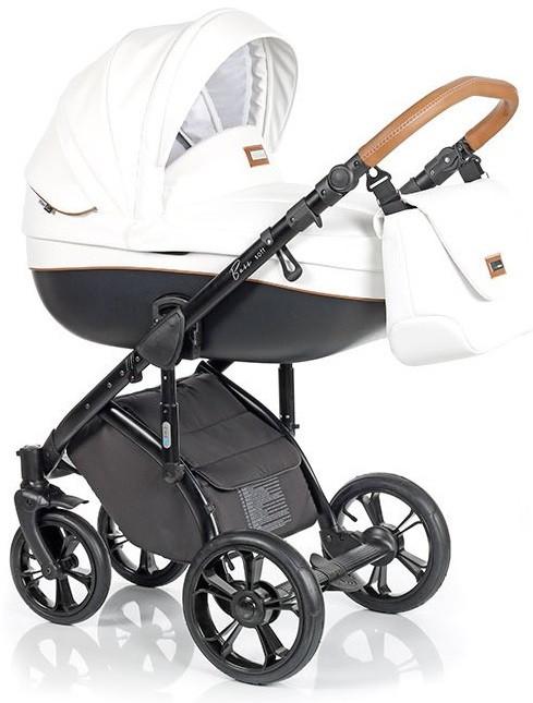 Детская коляска универсальная 2в1 Roan Bass Soft Eco Caramel White (Роан Басс, Польша)