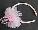 Обручи для волос детские с фатином Зайчики 12 шт/уп, фото 4
