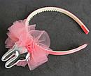 Обручи для волос детские с фатином Зайчики 12 шт/уп, фото 6
