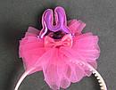 Обручи для волос детские с фатином Зайчики 12 шт/уп, фото 9