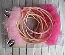 Обручи для волос детские с фатином Зайчики 12 шт/уп, фото 10