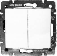 Выключатель двухклавишный IP44 Legrand Valena