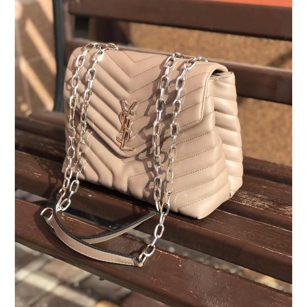 Женская сумочка YSL (Ив Сен Лоран), бежевый цвет