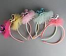 Обручи для волос детские с фатином Микки 12 шт/уп, фото 3
