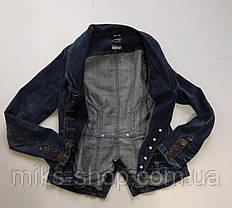 Стильный джинсовый пиджак на пуговицах, фото 2