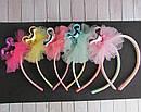 Обручи для волос детские с фатином Микки 12 шт/уп, фото 2
