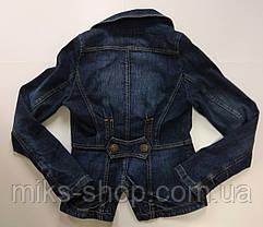 Стильный джинсовый пиджак на пуговицах, фото 3